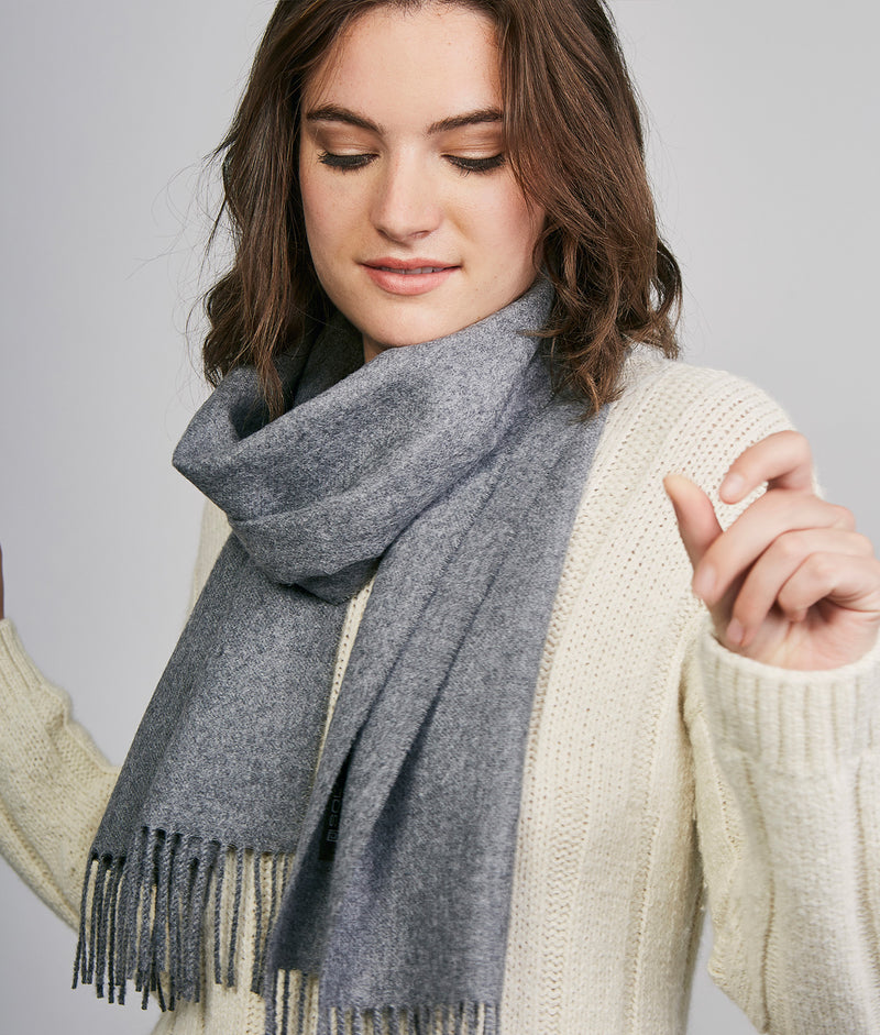 Long brushed scarf mid grey 435