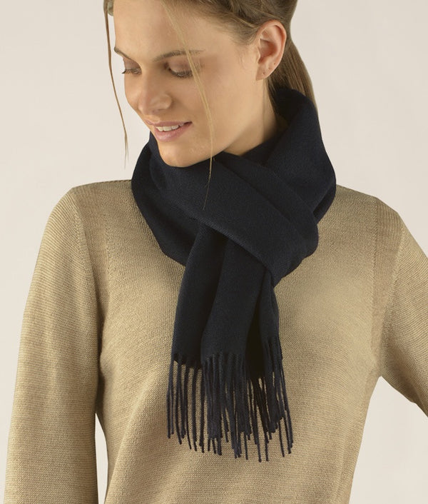 Long brushed scarf Navy Blue AZ1667