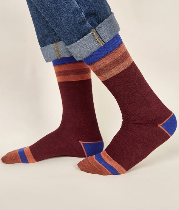 Classic Striped Men's Socks C001