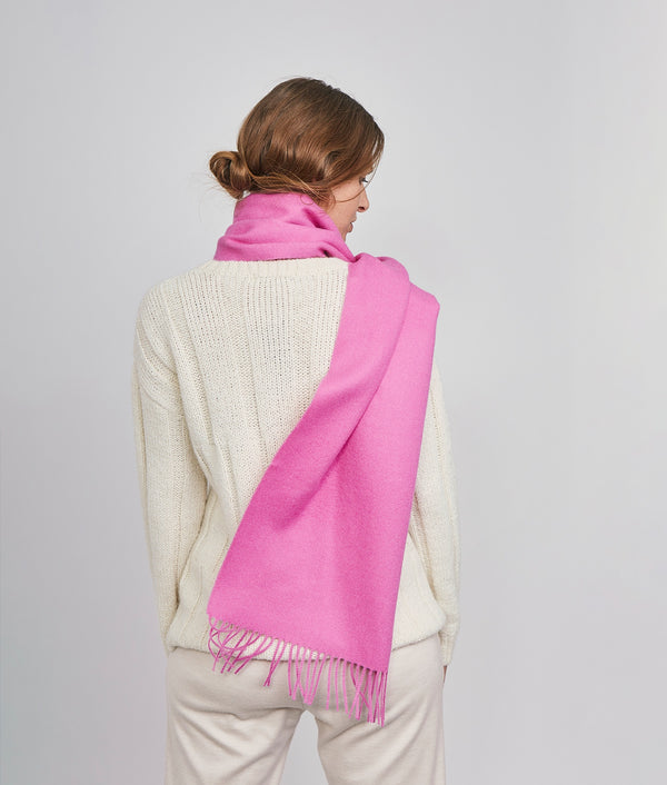 Long brushed scarf RJ14602
