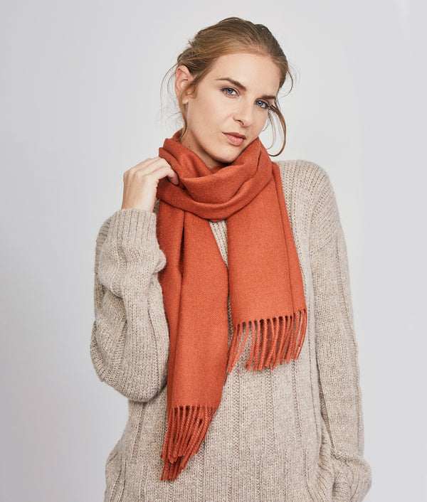 Long brushed scarf AM14612