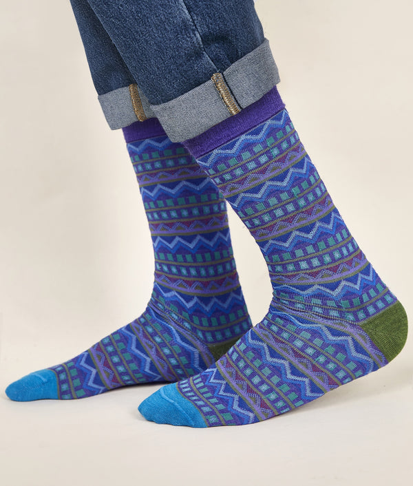 Stripes Jacquard Men's Socks C002