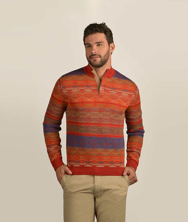PATTERNS OF SOUTH HIGH NECK SWEATER
