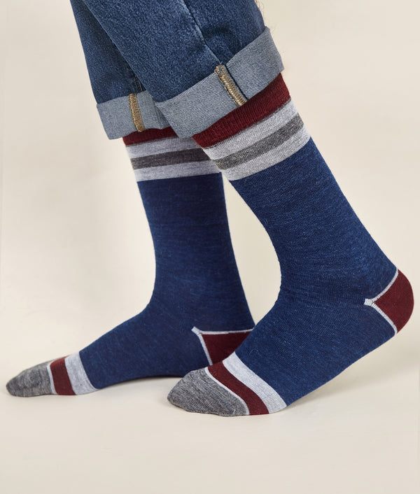 Classic Striped Men's Socks C006