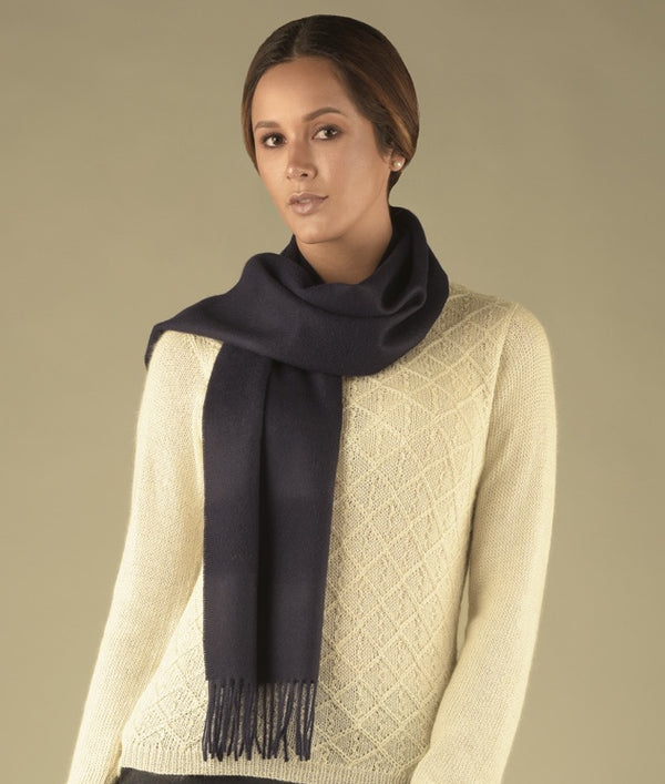 BRUSHED SCARF NAVY AZ1667