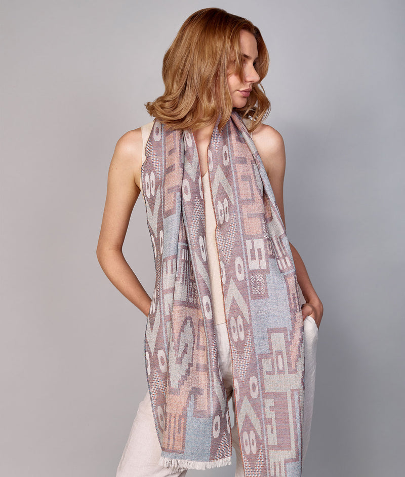 Nazca Dignified Forms Scarf C001