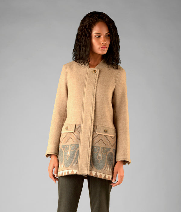 Long bomber coat C002
