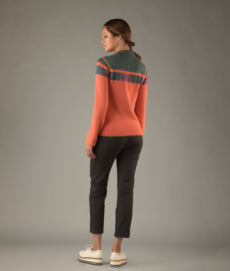 Ribbed Reversible Mock Neck-S C003
