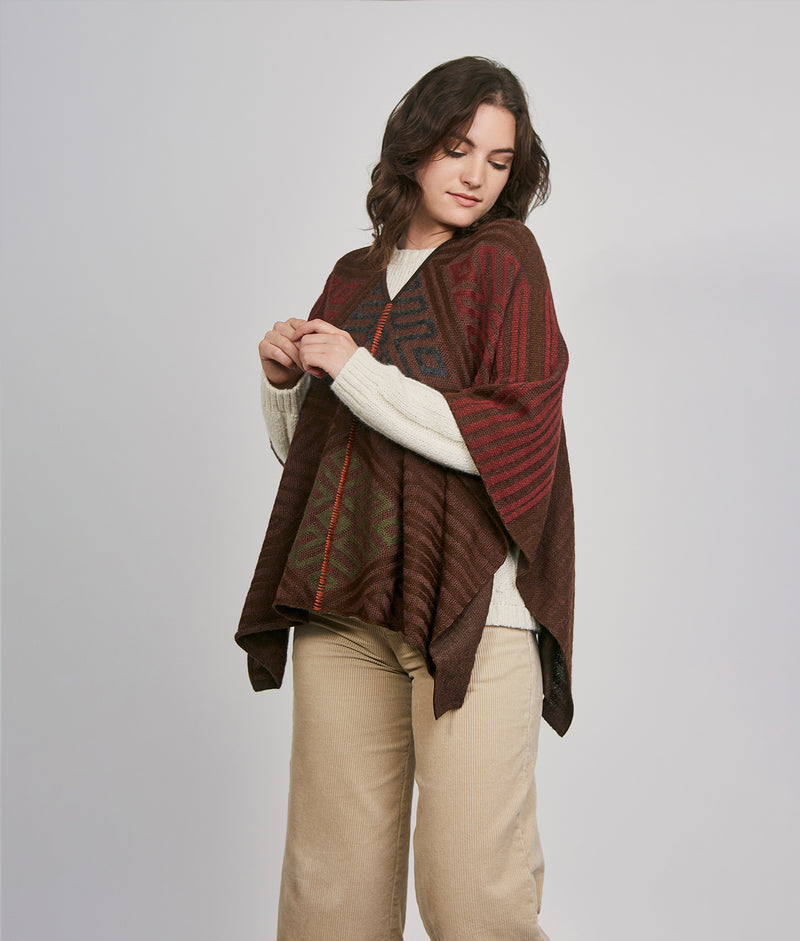 Embraced poncho C003