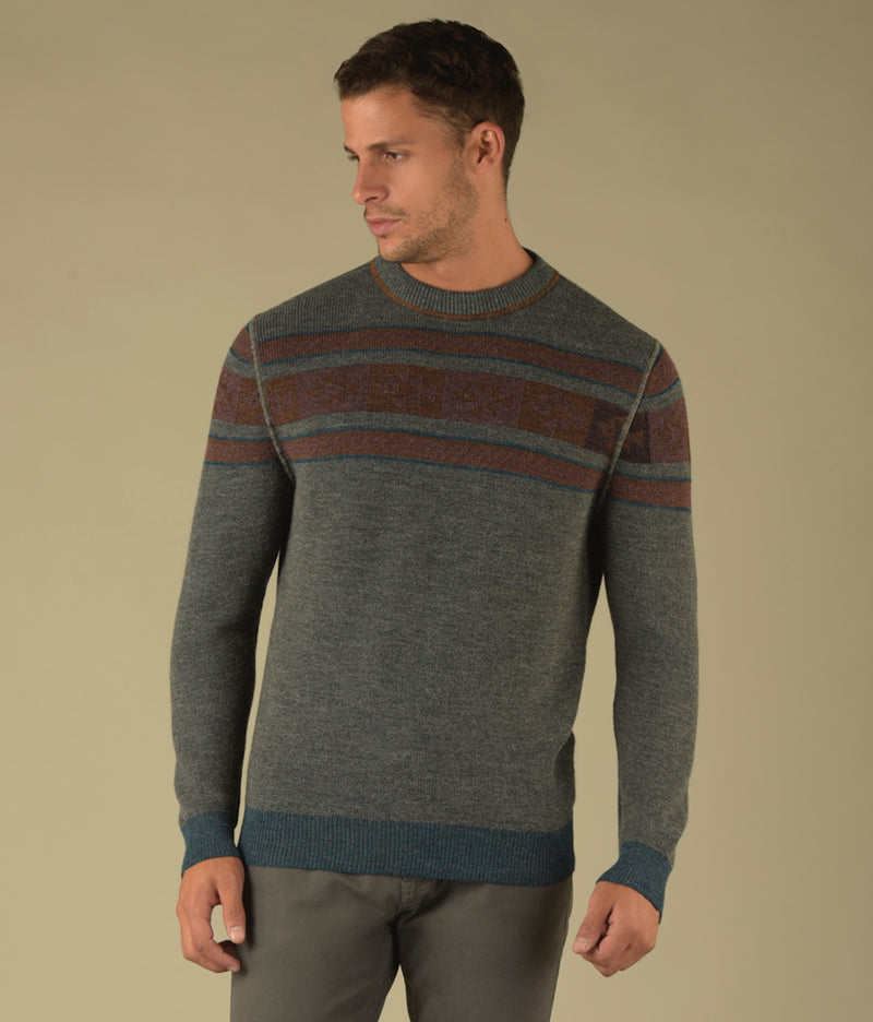 Reversible Ribbed Crew Pullover-S C003