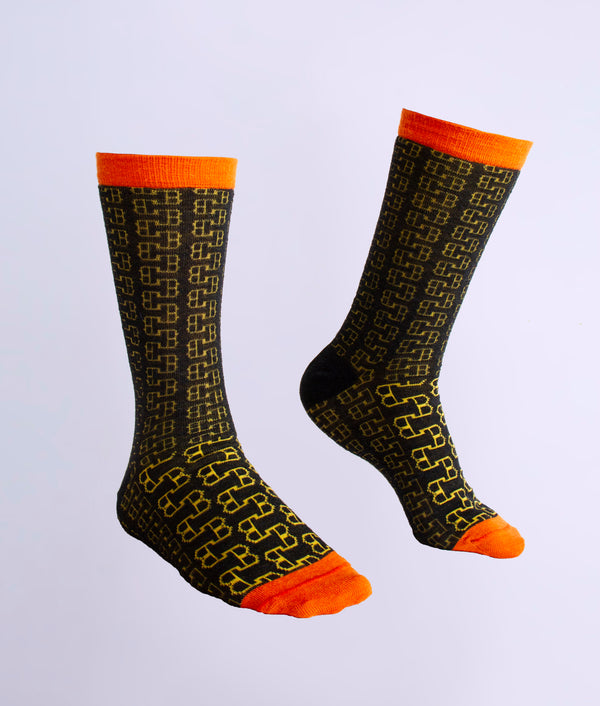 The loose eyelet ladies socks C005