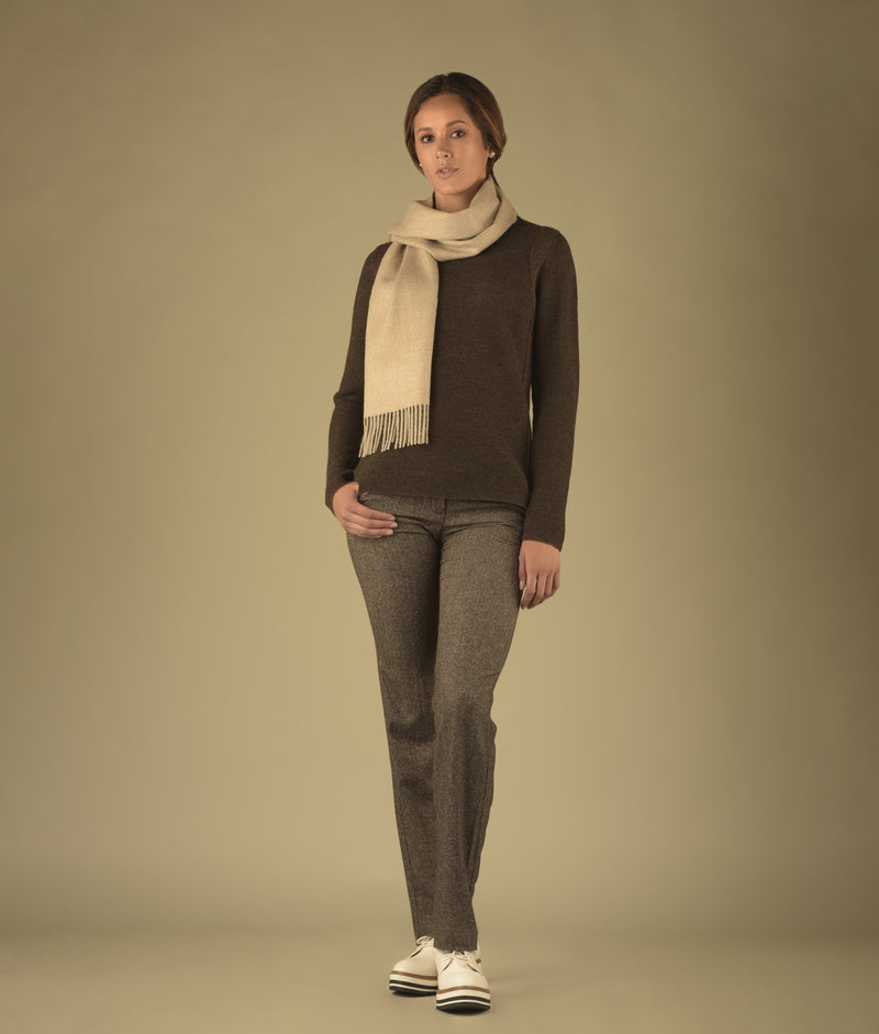 BRUSHED SCARF OATMEAL 282