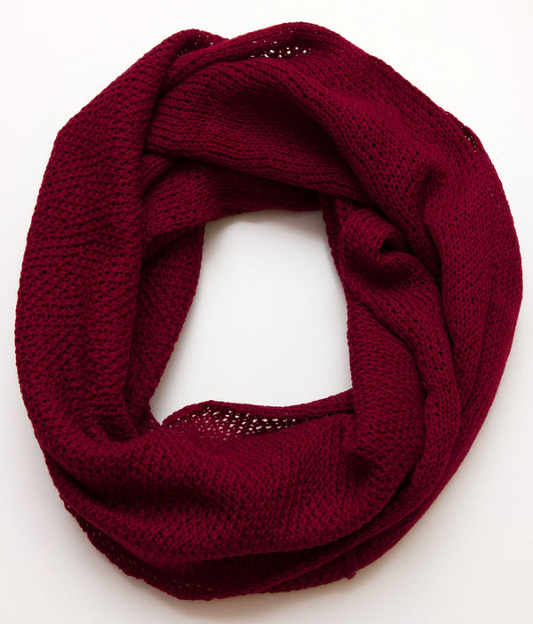 Infinity Scarf Wine Red