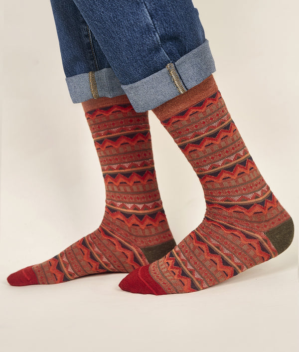 Stripes Jacquard Men's Socks C003
