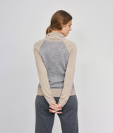 Cables Blocked Pullover-S C004