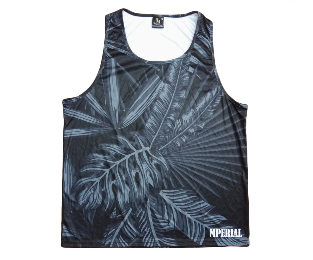Mperial Black Tropics Tank Top
