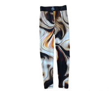 Load image into Gallery viewer, Brown Abstract Leggings & Bra
