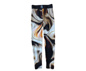 Brown Abstract Leggings