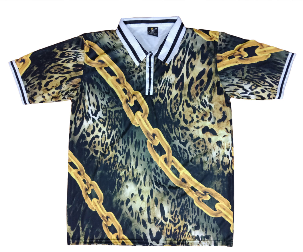 Chained Leopard Polo