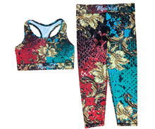 Load image into Gallery viewer, Golden Roses Capri Leggings & Bra
