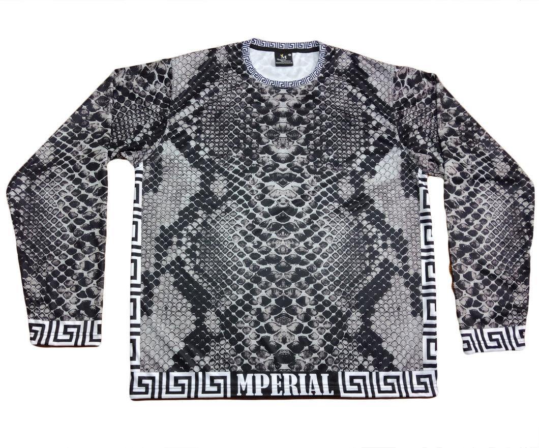 Grey Snakeskin Full Sleeve Shirt