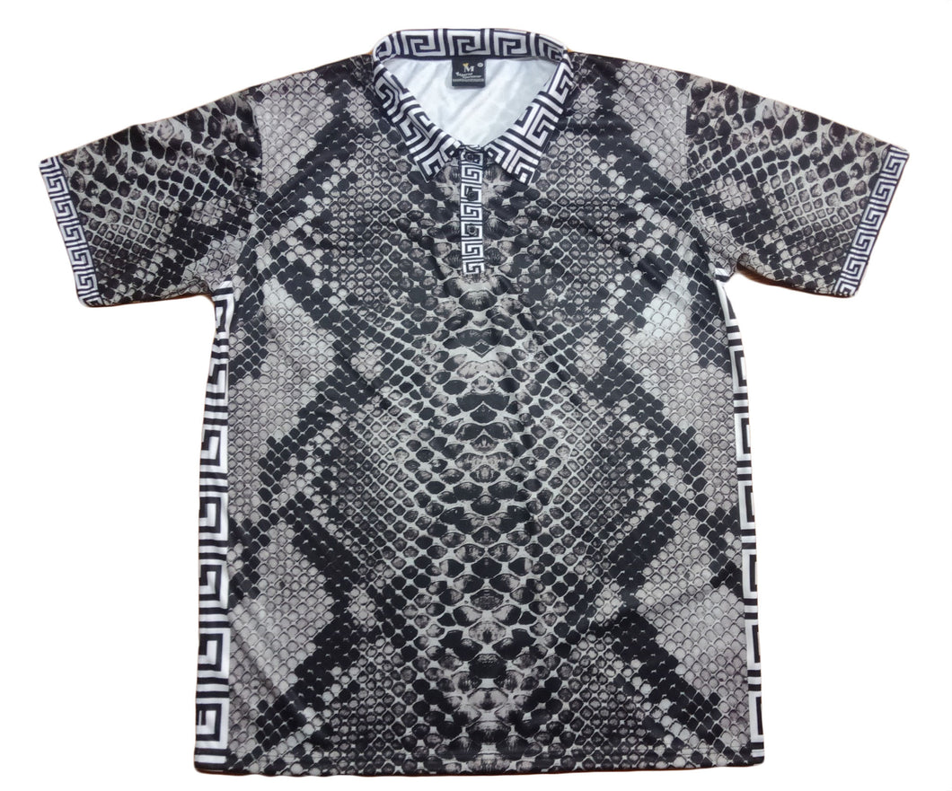 Grey Snakeskin Polo