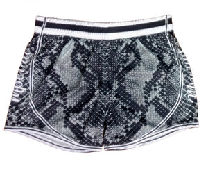 Grey Snakeskin Women's Shorts