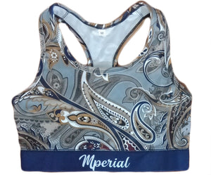 High Class Paisley Sports Bra