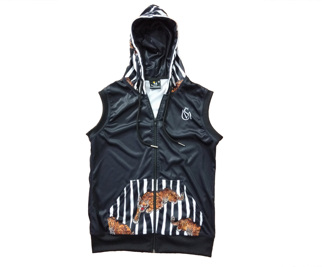 Ztigers Sleeveless Zip Up Hoodie