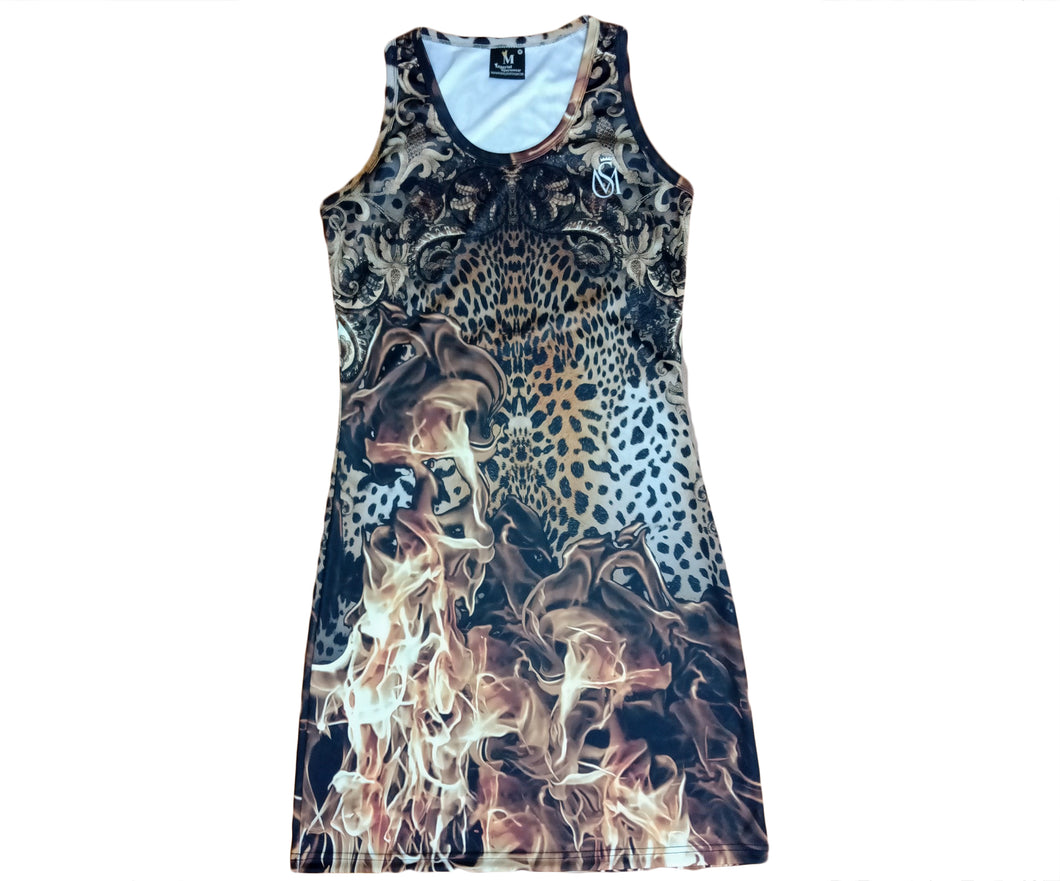 Leopard on Fire Dress