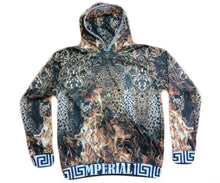 Load image into Gallery viewer, Leopard on Fire Long Sleeve Hoodie*