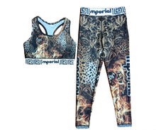 Load image into Gallery viewer, Leopard on Fire Leggings (full length) & Sports Bra
