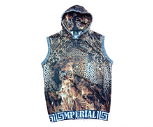 Load image into Gallery viewer, Leopard on Fire Sleeveless Hoodie*