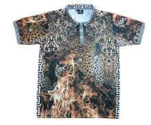 Load image into Gallery viewer, Leopard on Fire Polo