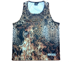 Leopard on Fire Tank Top