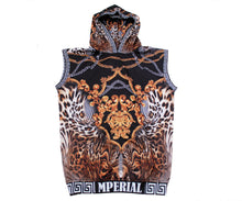Load image into Gallery viewer, Luxury Leopard Sleeveless Hoodie