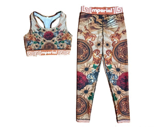 Gold Medallion Leggings & Sport Bra