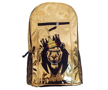 Load image into Gallery viewer, Mperial Gold Leather Backpack