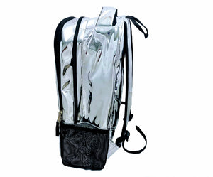 Mperial Liquid Chrome Leather Backpack