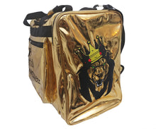 Load image into Gallery viewer, Mperial Gold Leather Duffle Bag (Carry-on size)