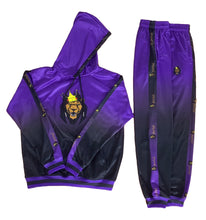 Load image into Gallery viewer, Mperial Fade Sweatsuit (purp/blk)