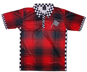 Mperial Red Buffalo Plaid Polo