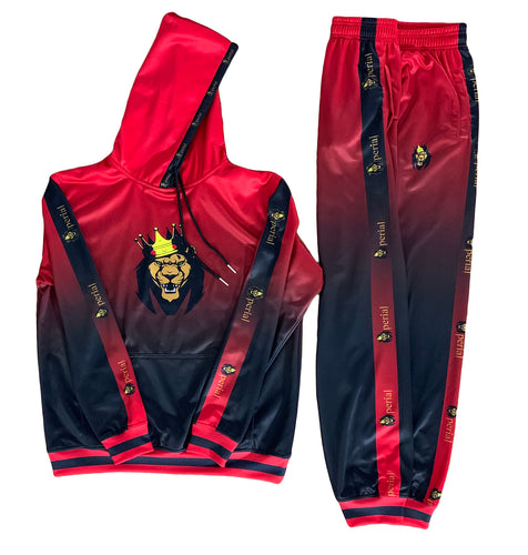 Mperial Fade Sweatsuit (red/blk)