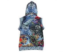 Load image into Gallery viewer, Women's Silk Scarf Sleeveless V-neck Hoodie