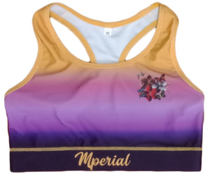 Silk Butterfly Sports Bra