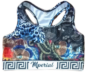 Silk Scarf Sports Bra