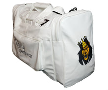 Load image into Gallery viewer, Mperial Leather Embroidered Duffle Bag (white)