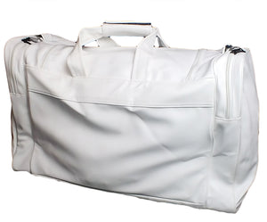 Mperial Leather Embroidered Duffle Bag (white)