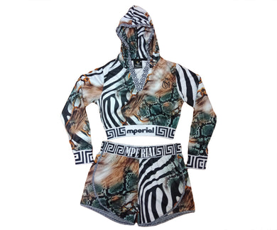 Women's Wildlife 2 Crop Top and Short Set