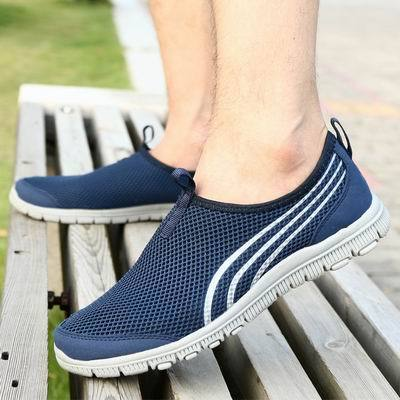 LEMAI Men's Sneakers Shoes Summer Platform Run Shoes Women Breathable Beach Running Shoes For Men-cigauy